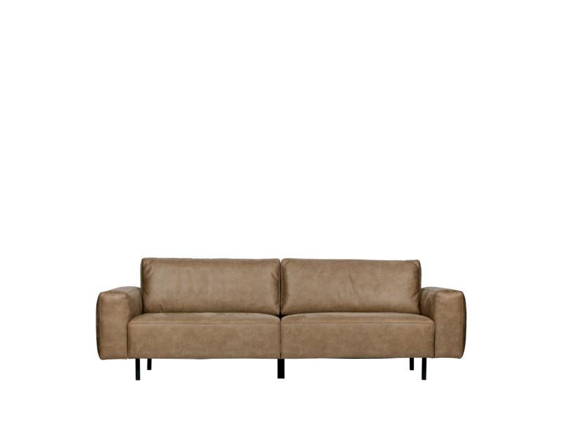 meilleur service eb892 8ae3d Rebound - canapé 3 places en simili-cuir - couleur - taupe ...