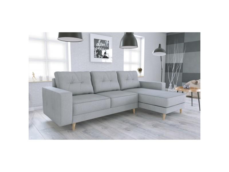Canapé d'angle convertible vigo gris clair en tissu vigo_avecboutons_malmonew83
