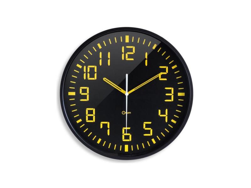 Orium Horloge Murale Silencieuse Contraste O 30 Cm Noir Et Jaune