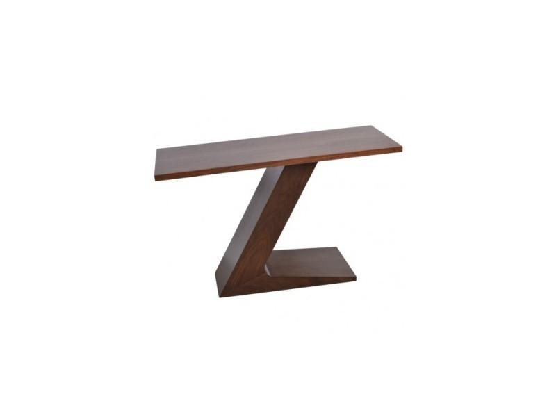 Console design plateau et pied en bois luzern
