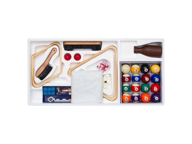 Paris prix - lot de 12 accessoires pour billard 85cm multicolore