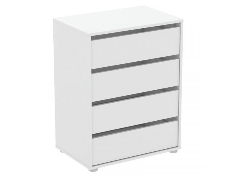 Caisson de rangement 4 tiroirs blanc - odu - l 60 x l 40 x h 77 cm