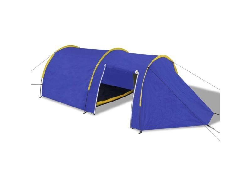 38b6437cf3fc9 Icaverne - tentes joli tente de camping pour 4 personnes bleu marine/jaune