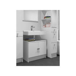 galet meuble sous lavabo l 60 cm blanc mat