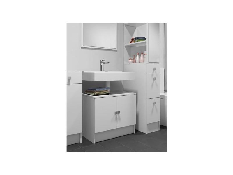 Galet meuble sous lavabo l 60 cm blanc mat vente de - Meuble sous lavabo 45 cm ...