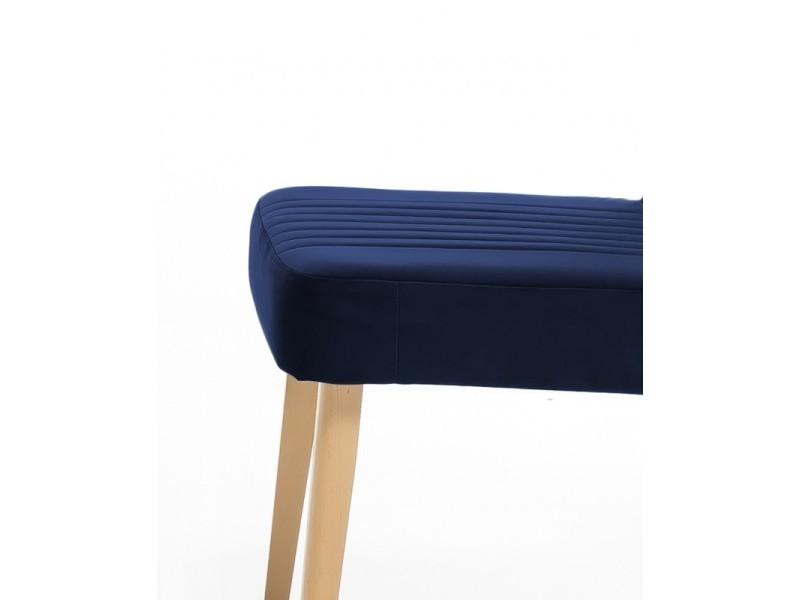 Chêne Marine Vente 2 Velours Chaises Bleu Royal De Lot PXZiuOk