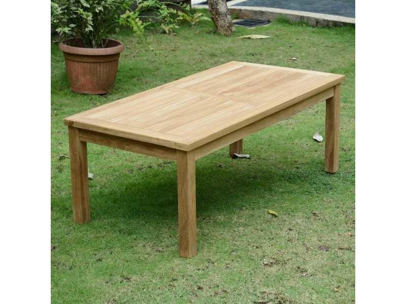 Table basse rectangulaire en teck ecograde coffee 120 x 60 ...
