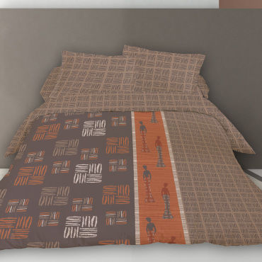 Housse de couette 220x240 african way + 2 taies