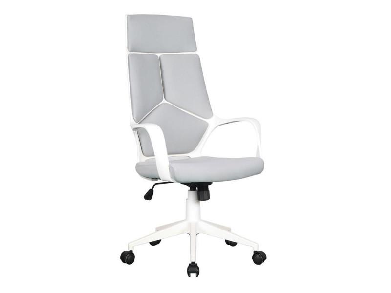 Tissu Moderna Fauteuil Vente Chaise De Bureau Griseblanche 4A35RjLq