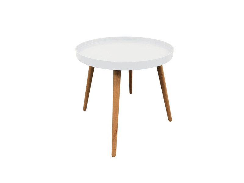 Table plateau ronde - blanche