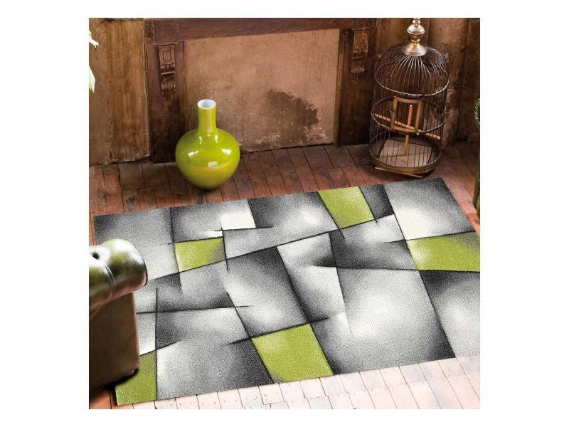 Tapis salon moderne de créateur parlak 3d vert, gris, noir 160 ...