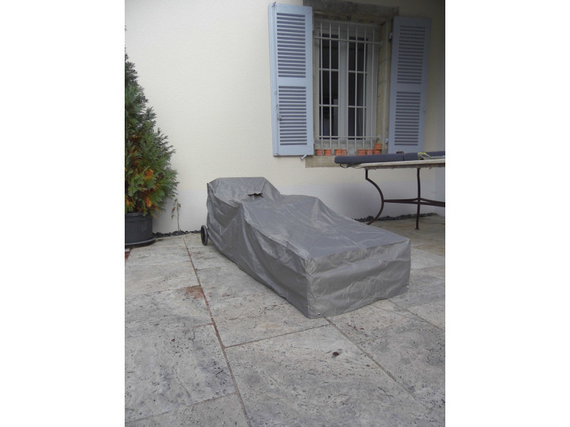 Housse de protection de transat de jardin - dim : 200 x 75 x 60/30 cm -pegane-