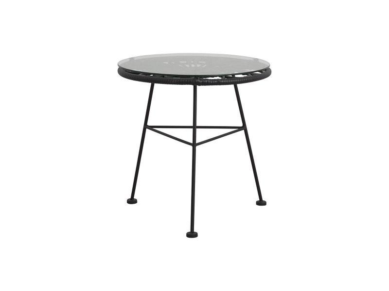 Petite table basse ronde en verre extérieur carlota 85001