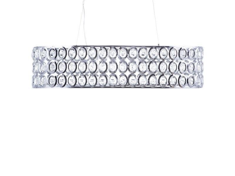 Tenna Beliani 83335 Et Chromé Vente Lampe Cristal L Suspension De CshrtdQx