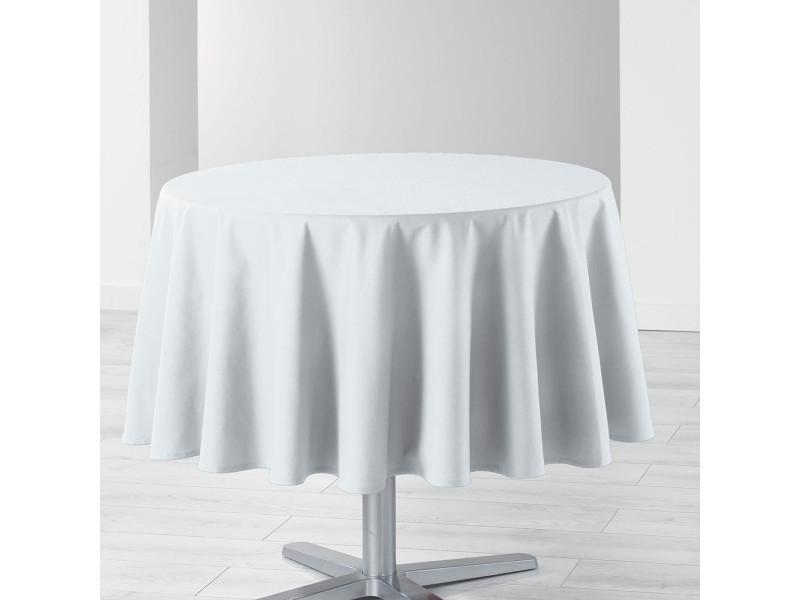 Nappe de table ronde ø180cm essentiel blanc antitache