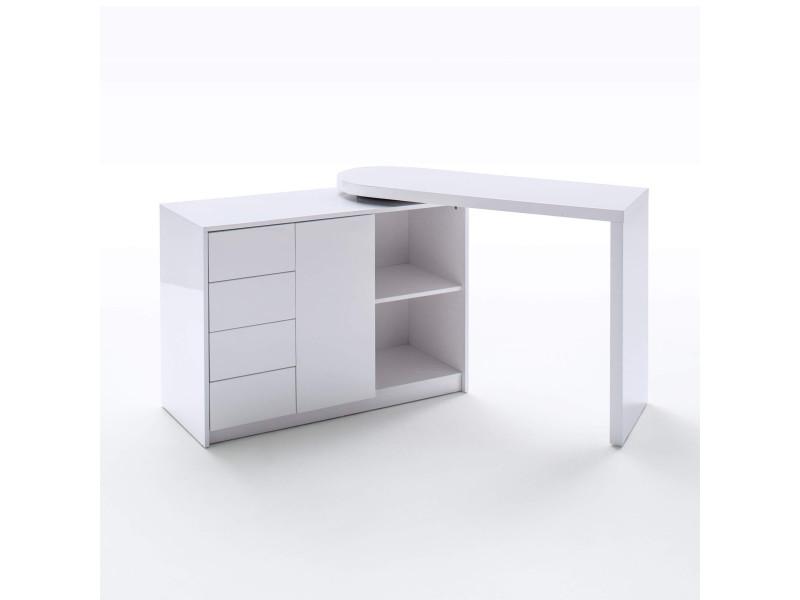 Bureau pivotant en bois blanc laqué - bu16010