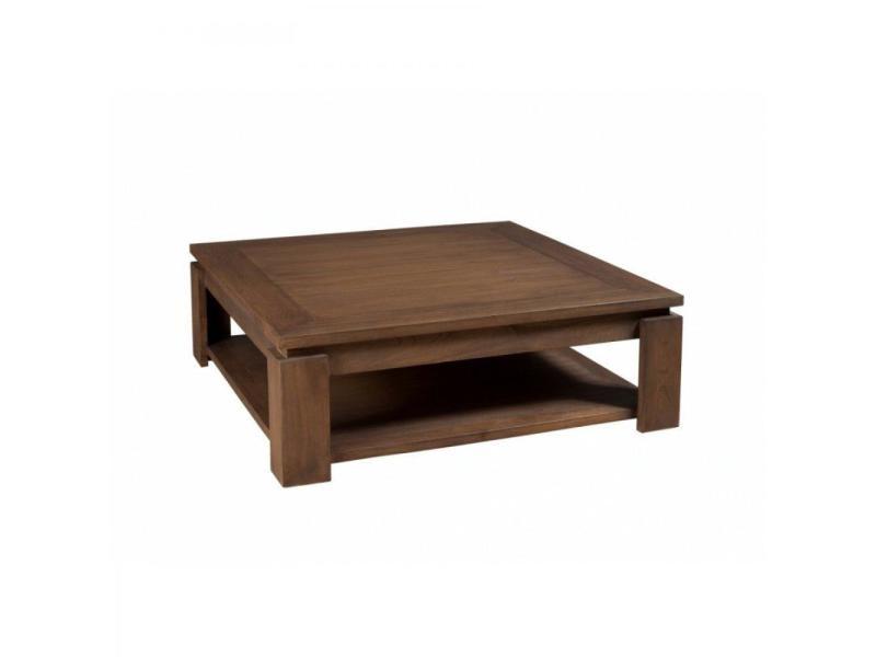 Table basse carrée 90 x 90 cm laura style colonial en mindi 20100857919