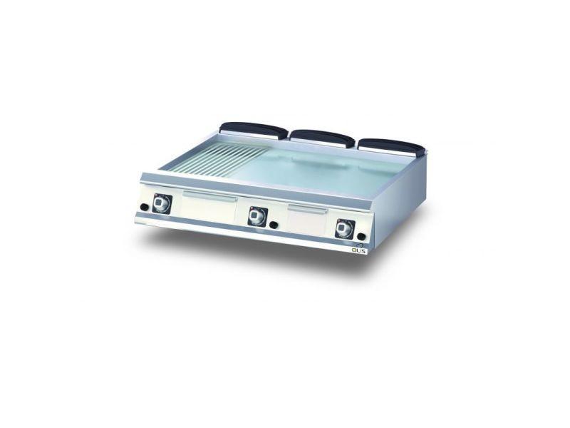 Plancha gaz 1/3 rainurée chromée diamante 90 - 600 à 1200 mm - olis - chromé 1200 mm 900