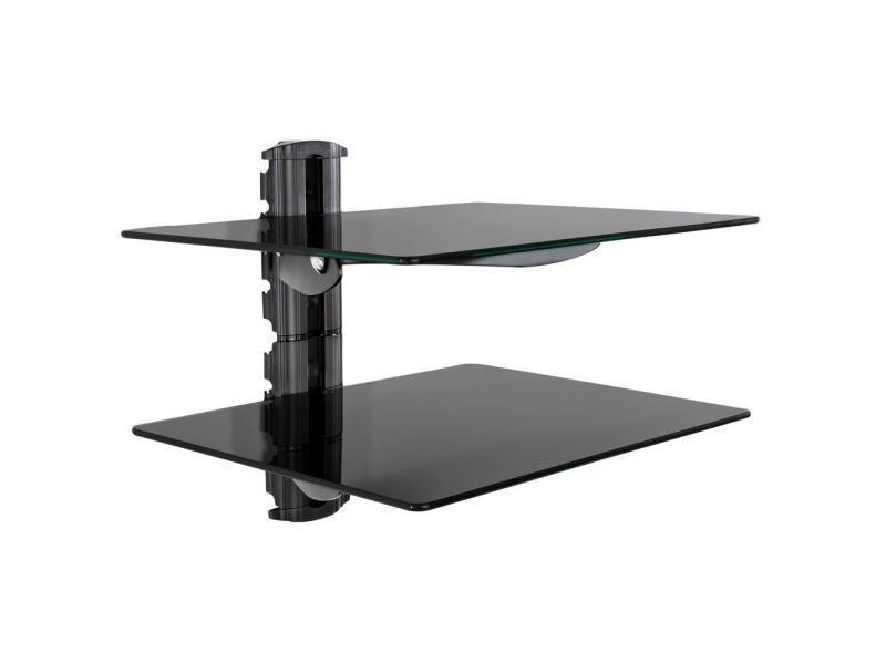en soldes 62145 47d36 Étagère support mural pour dvd console 2 tablettes verre de ...