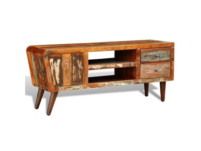 Vidaxl meuble tv vintage multicolore 1 porte et 2 tiroirs 240956