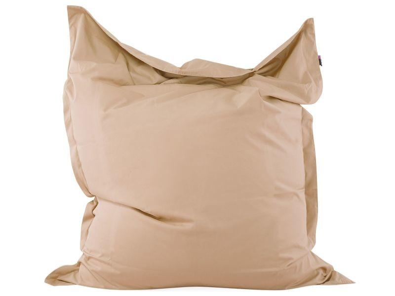 Pouf couleur sable en tissu polyester 140 x 180 cm 62935