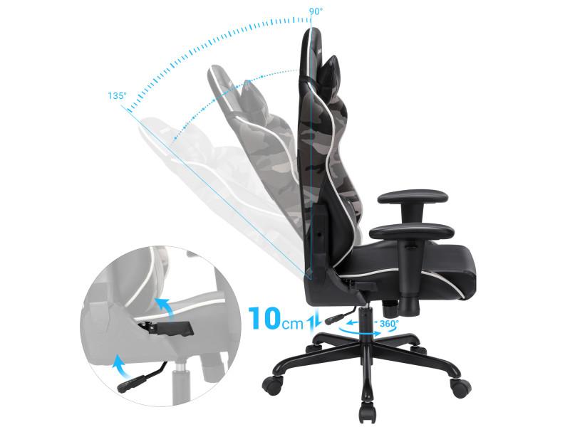 Tnk flex chaise de bureau ergonomique pour un usage intensif