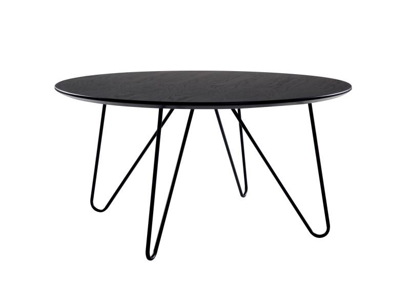 Table basse ronde alta noire