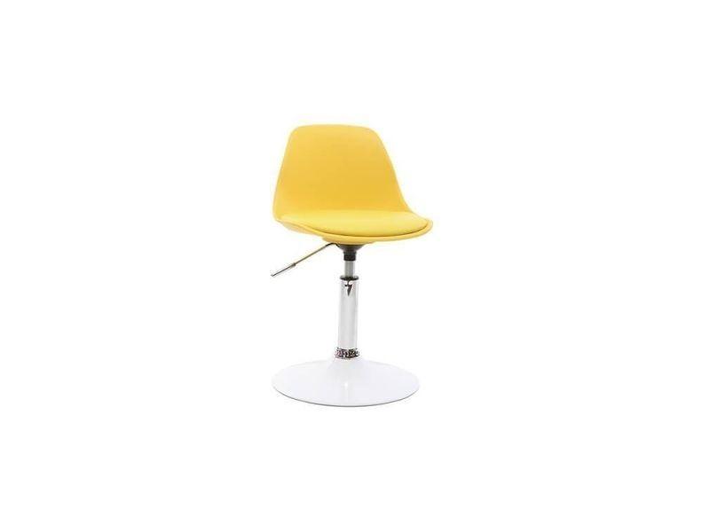 Chaise de bureau design enfant jaune steevy Vente de