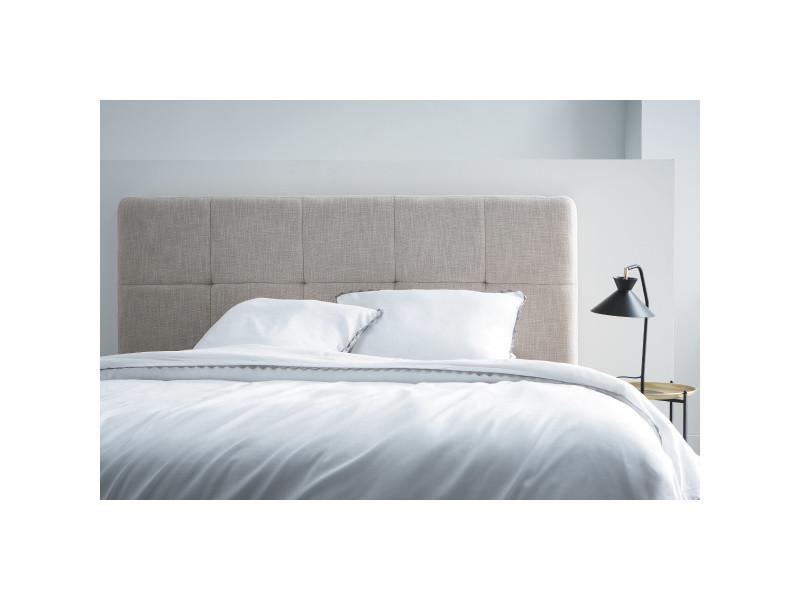 Tête de lit classique tissu gris foncé 140 cm clovis - Vente ...