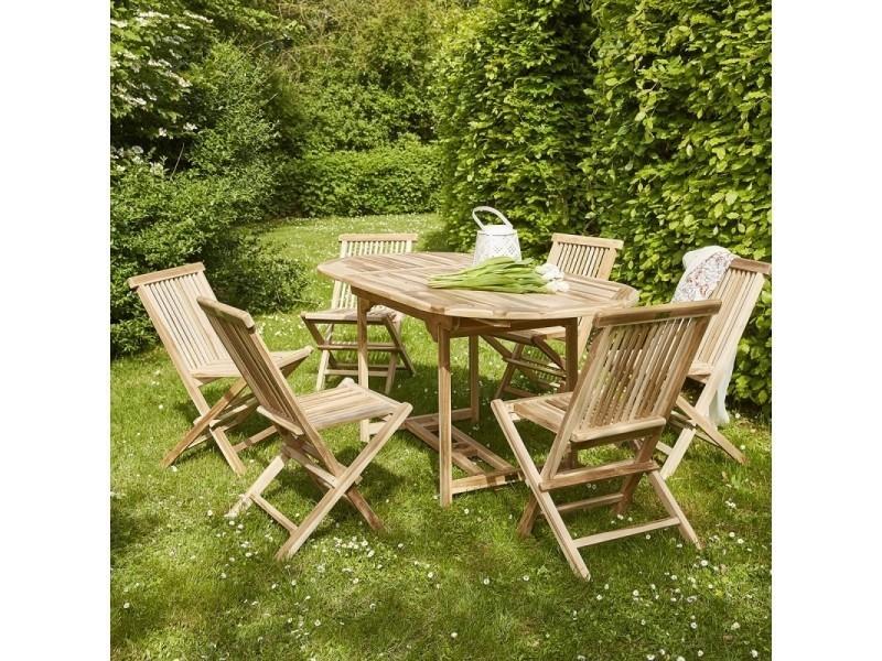 Salon de jardin en bois de teck 4 à 6 places - Vente de Salon de ...