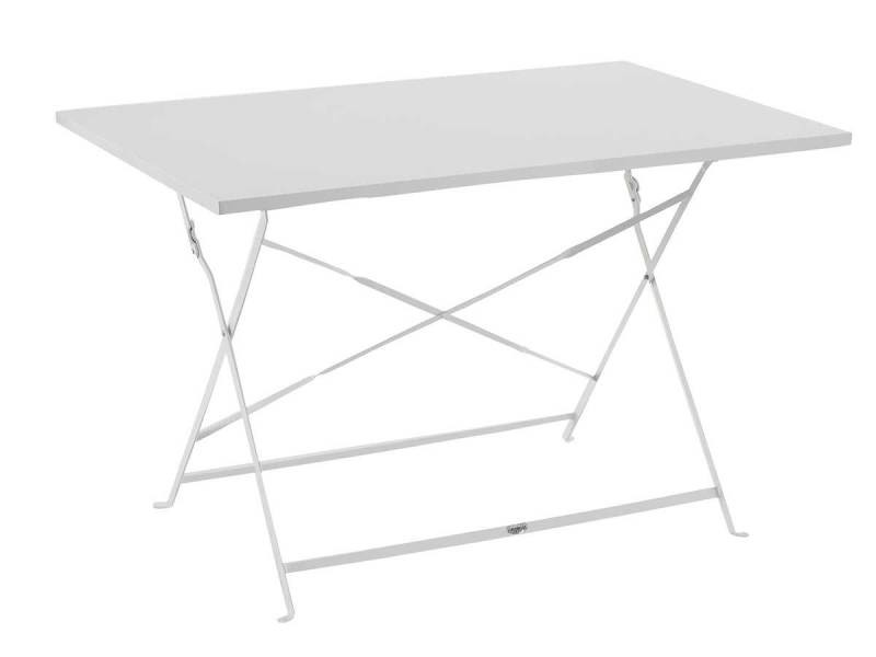Table de jardin pliante camargue - 110 x 70 cm - blanc - Vente de ...
