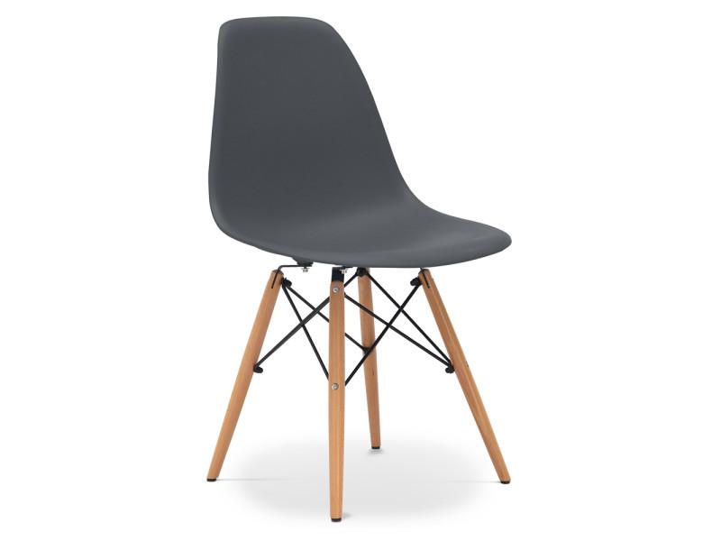 Matt Chaise Polypropylène Dsw Gris Charles Eames Style Foncé doCxBe