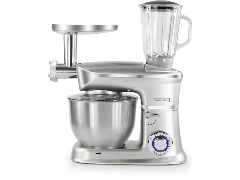 Royalty line pkm-1900.7bg robot de cuisine 3 en 1 avec 1900 watts max argent