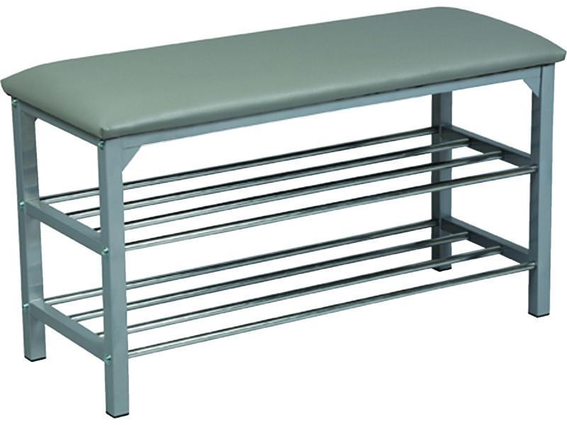 Banc en acier et polypropylène, coloris gris - dim : l 79 x l 30 x ht 45 cm - pegane -