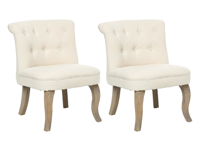 Lot de 2 fauteuils effet lin calixte petit modèle \