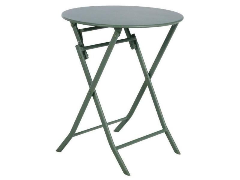 Table de jardin ronde hespéride 60cm greensboro kaki - Vente ...