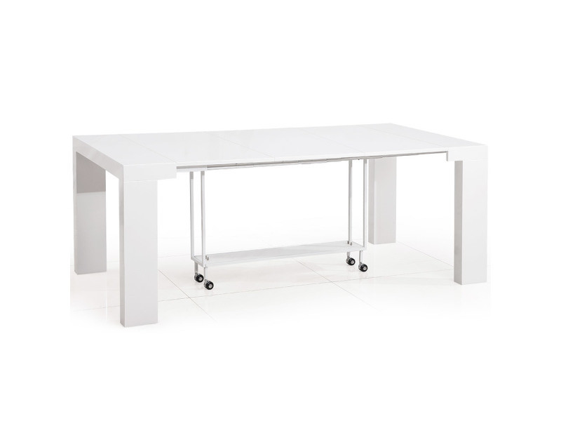 Table Console Castille Blanc Laque Vente De Table Conforama