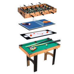 246c484d1a162b Table multi jeux 4 en 1 babyfoot billard air hockey ping-pong avec  accessoires mdf
