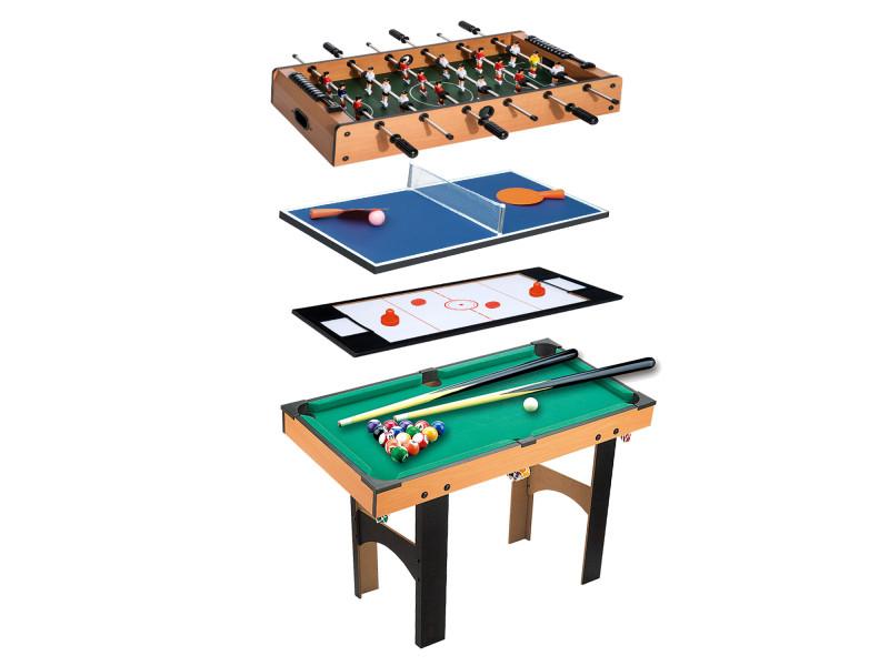 table multi jeux 4 en 1 babyfoot billard air hockey ping. Black Bedroom Furniture Sets. Home Design Ideas
