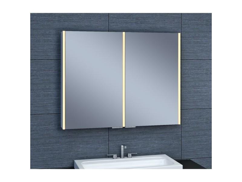 Armoire de toilette aluminium - modèle nevis 90 - 70 cm x 90 cm (hxl ...