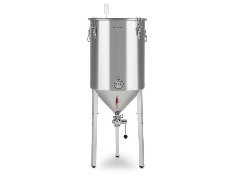 Klarstein gärkeller pro xl - cuve de fermentation 60 litres pour brassage de bière maison - acier 304 BRD3-Conical-60