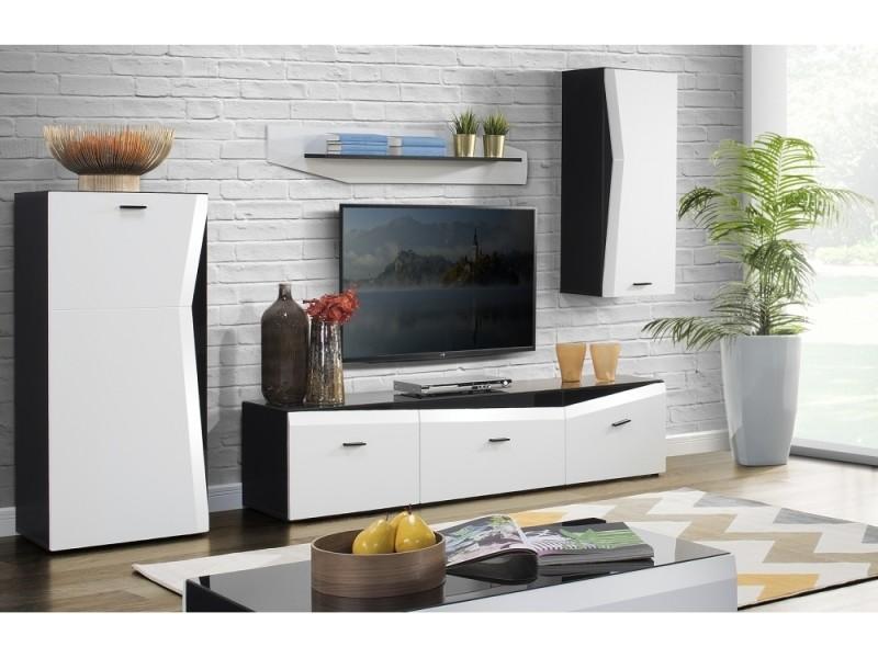 Ensemble meuble tv salvatore en mdf blanc mat 235 cm