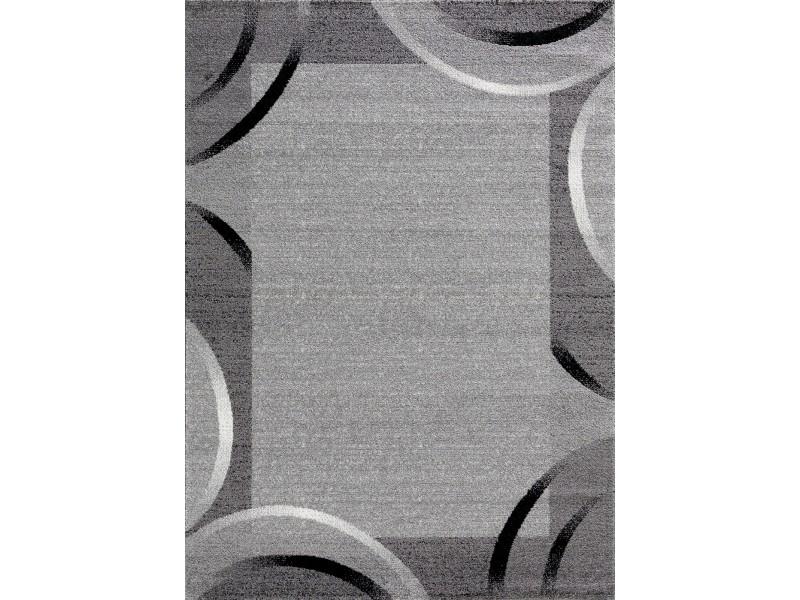 Tapis de couloir santana gris, noir, blanc motifs arcs ...