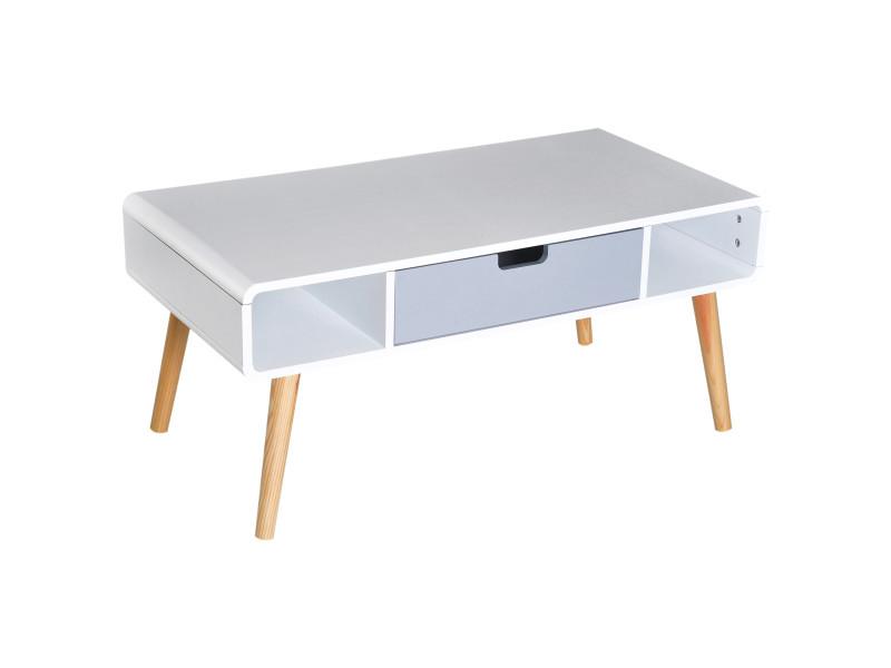 Table Basse Rectangulaire Design Scandinave 100l X 50l X 45h