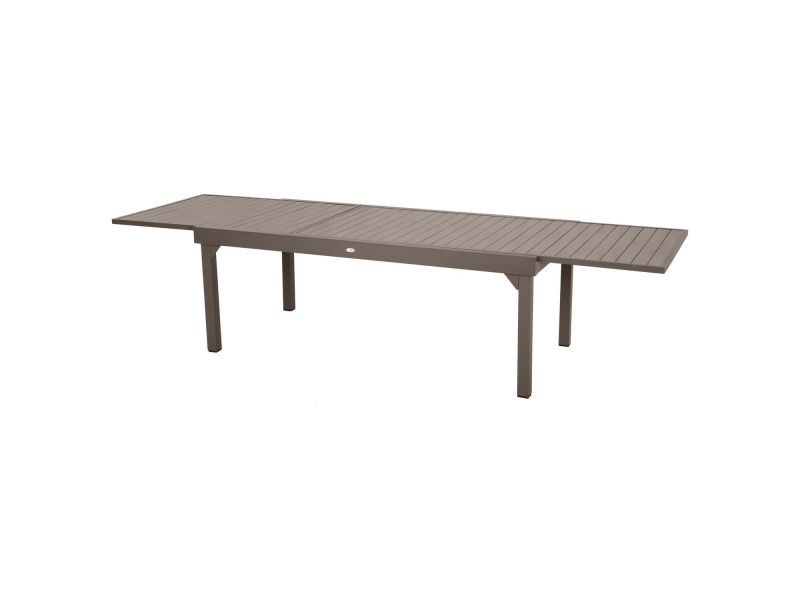 Table de jardin extensible 12 personnes piazza - l. 200/320 cm ...
