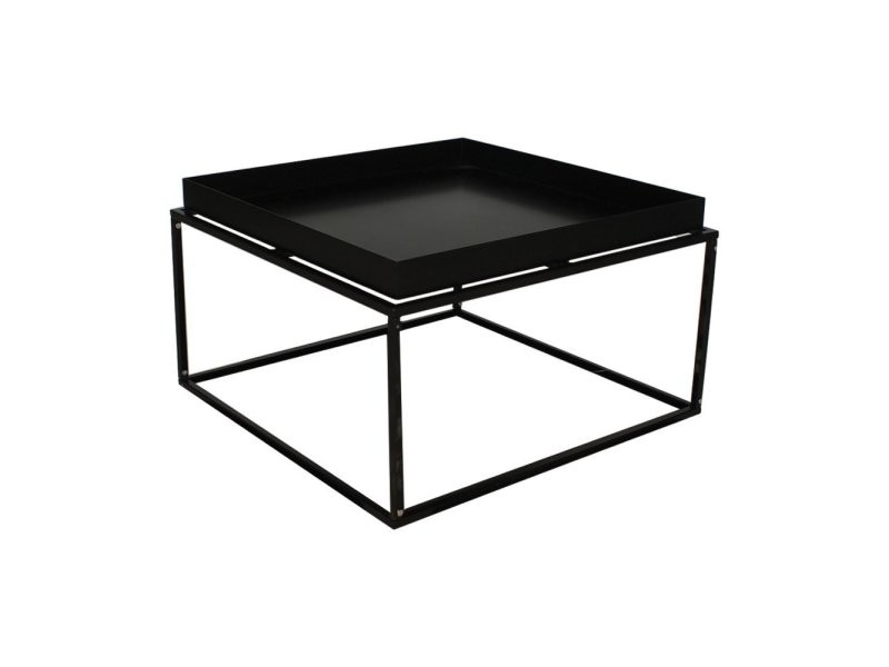 Table basse minimaliste en métal sylvie GT-252L: BLACK COLOR JN206