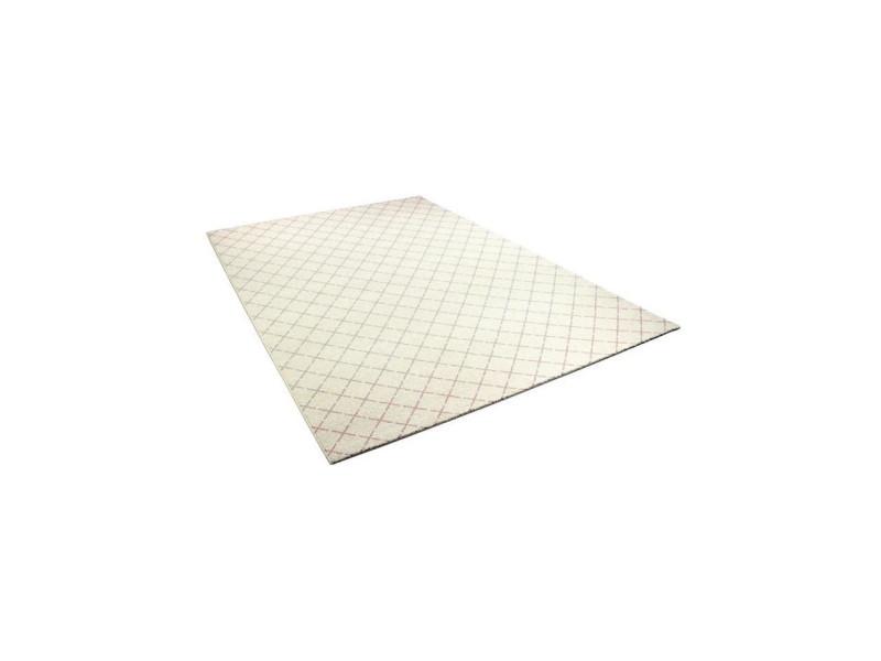 Madrid tapis style contemporain 120x170 cm blanc / rose ...