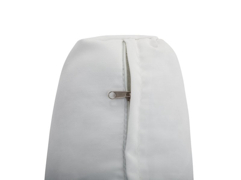 Set de housses en tissu blanc cassé pour salon de jardin