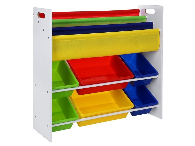 Meuble de rangement pour jouets et livres chambre d\'enfant ...
