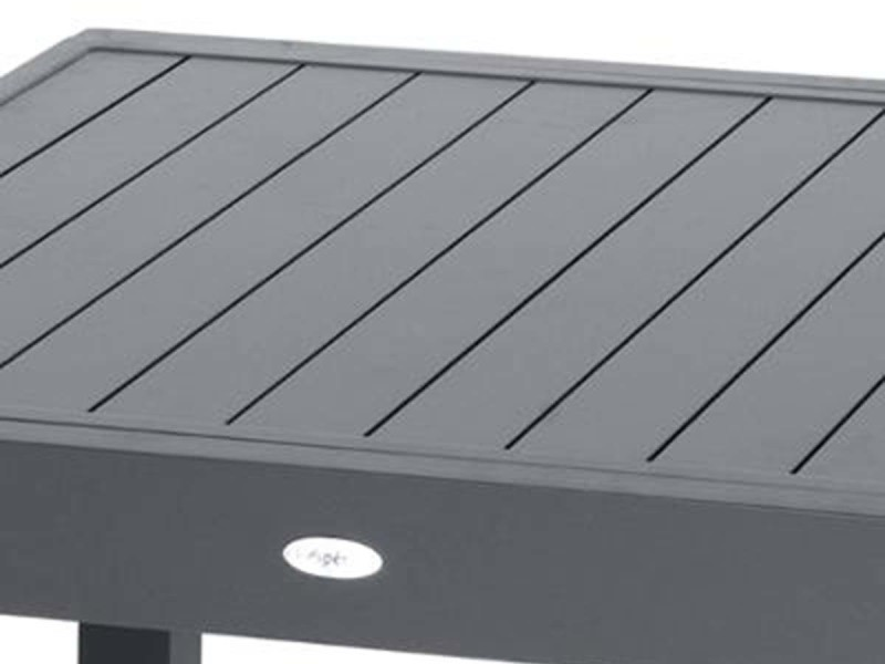 Table extensible composite piazza 6/10 places anthracite/gris ...